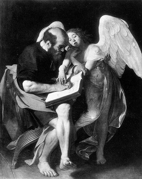 Caravaggio_MatthewAngel