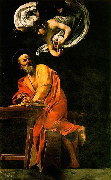 Versión no censurada de La inspiración de San Mateo, de Caravaggio