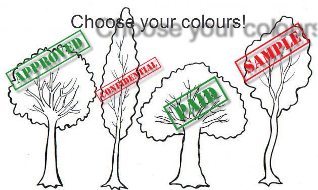 arboles para colorear 2
