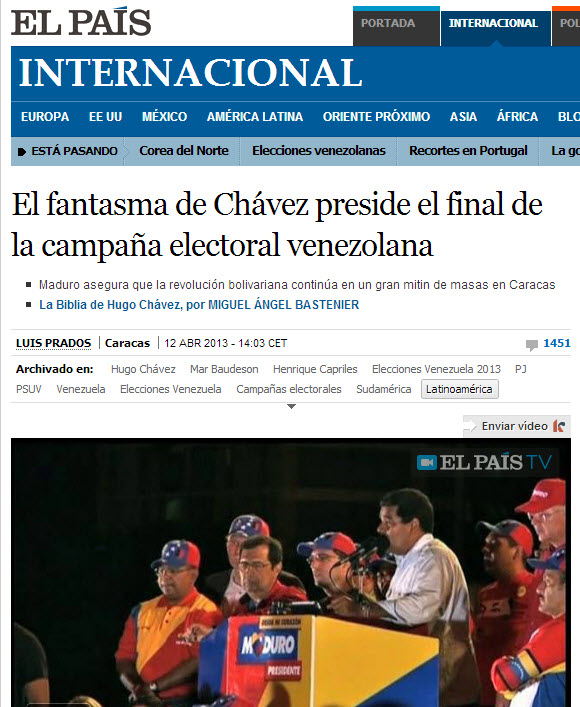 El Pais contra Maduro