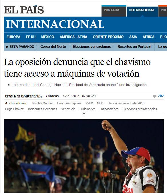 El Pais x Capriles