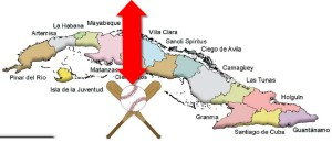Cuba mapa por provincias (béisbol Padura)