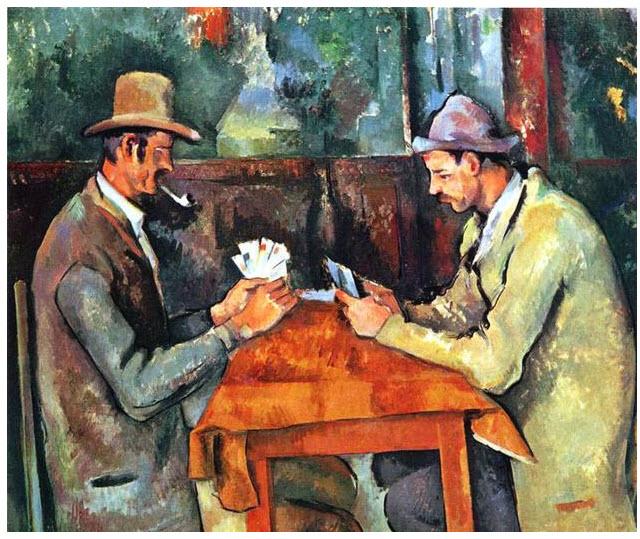 1. Los jugadores de cartas-Paul Cézanne