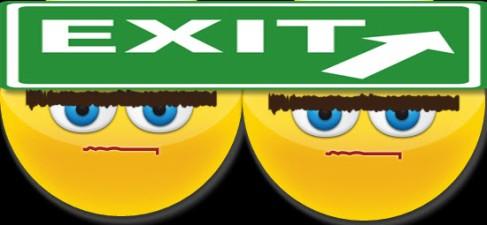 exit emoticons