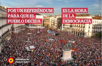 Izquierda Unida llama a referendo democrático