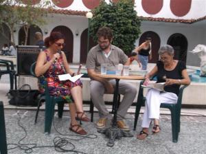 Lidia Meriño, Sergio García Zamora y Caridad González, en Páginas de Viernes