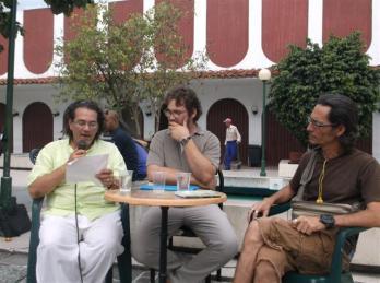 Arístides Vega Chapú, Sergio García Zamora y Geovannis Manso en Páginas de Vierne