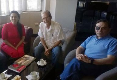 Walter Alida y Rolando en Meliá Cohíba La Habana