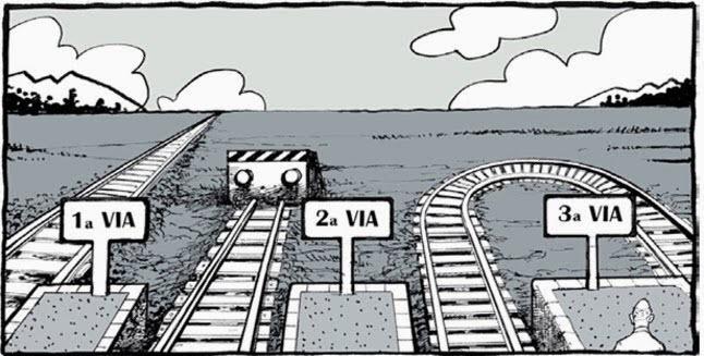 tercera vía caricatura