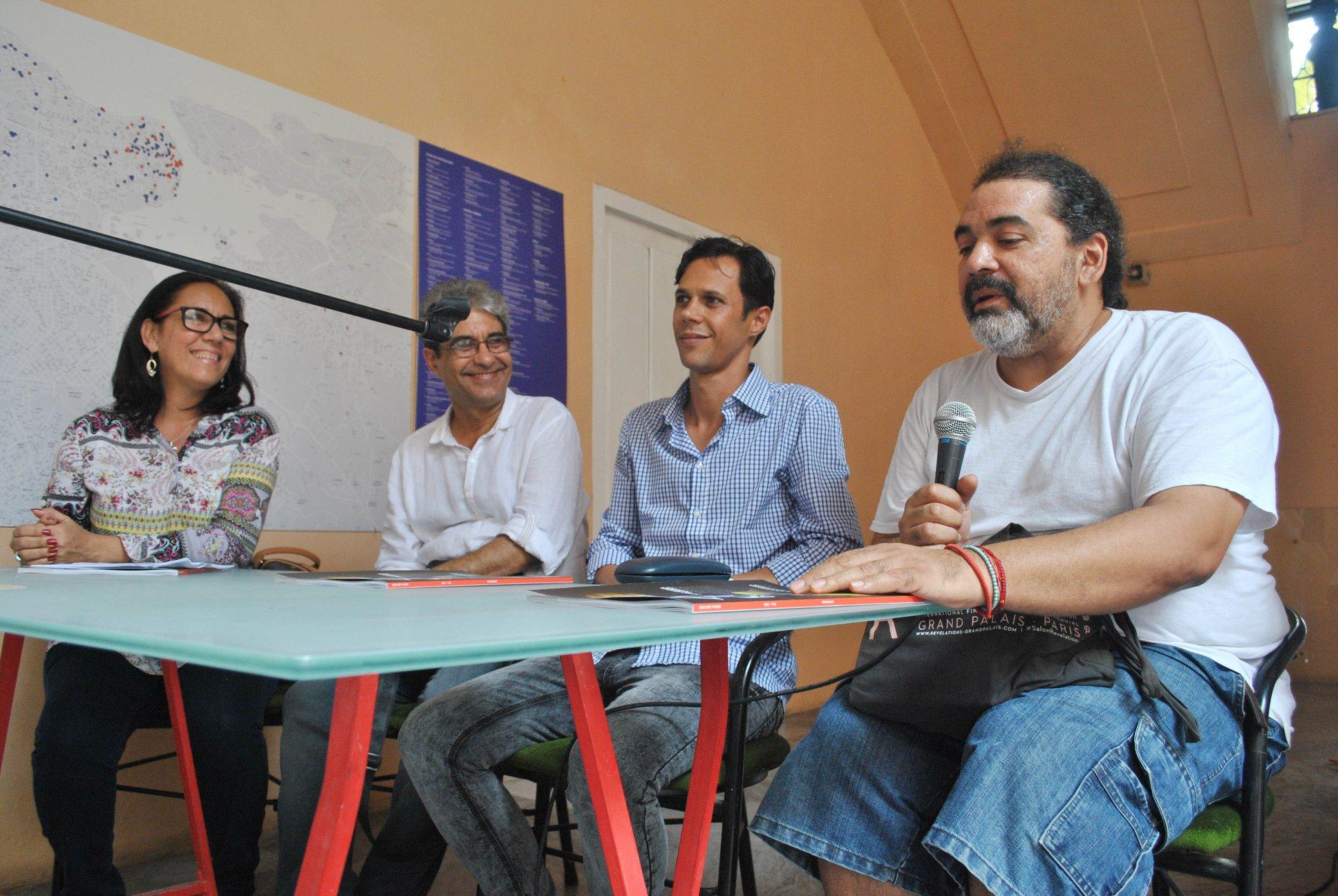 De izquierda a derecha: Norma Rodríguez Derivet, Jorge Ángel Hernández, Alain Cabrera y José Ángel Toirac